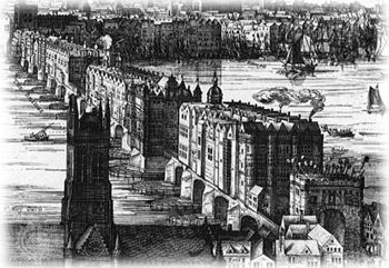 London Bridge circa 1600