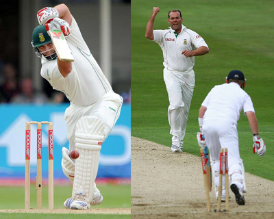 Jacques Kallis - Test Matches: 10,843 runs at 54.76, 261 wickets at 31.55. One Day Internationals: 10,613 runs at 45.74, 251 wickets at 32.01.