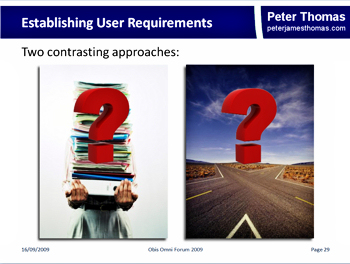 More recent, visually oriented slide