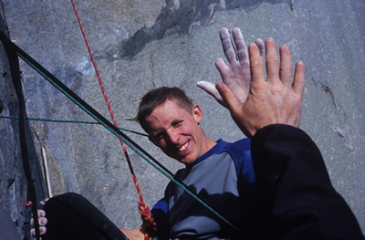 "Tommy Caldwell - ""high four"""