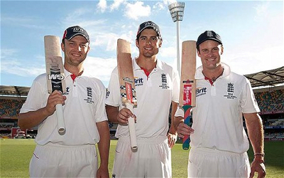 The prolific Jonathan Trott, England ODI Captain Alastair Cook and England Test Captain Andrew Strauss