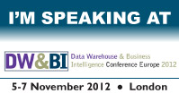 IRM UK - European Data Warehousing and Business Intelligence Conference - 2012