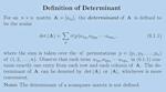 Determinant definition