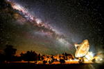 Radio telescope Milky Way