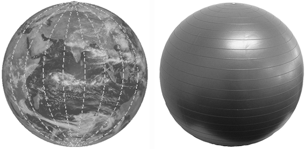 Globe and Swiss Ball - a matter of scale